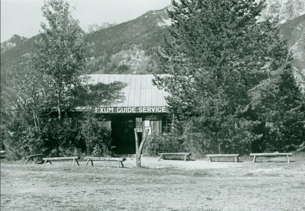 Photo of the old Exum Office, from about 1960